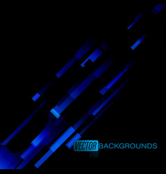 Abstract blue on a black scene vector