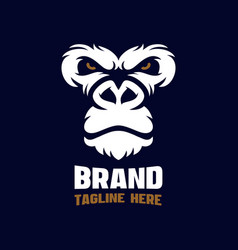 angry gorilla modern logo vector image