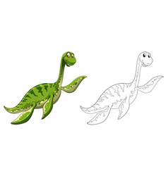 Animal outline for dinosaur vector