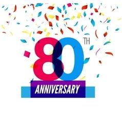 Anniversary design 80th icon vector