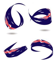 australia flag ribbon vector image