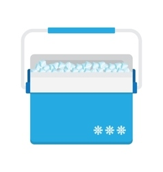 Bag refrigerator icon Cooler symbol vector image