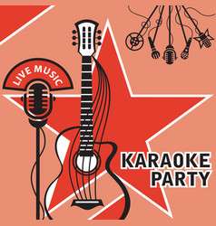 banner for karaoke vector image