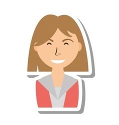 Businesswoman avatar elegant isolated icon vector