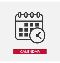 Calendar single icon vector