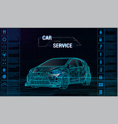 car auto service infographics design 3d vector image