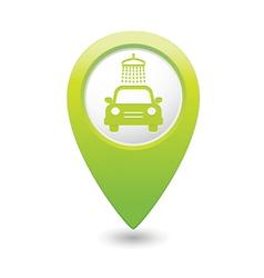 car wash pointer green vector image