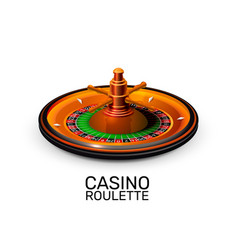 Casino roulette object realistic background vector