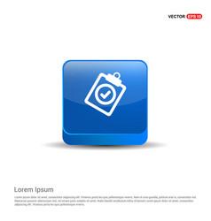 Check list icon - 3d blue button vector