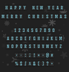 Christmas alphabet holiday vintage concept vector