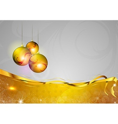 christmas background two color gold gifts ball vector image