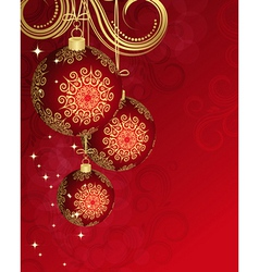 Christmas card for your design vector image