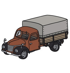 Classic truck vector image