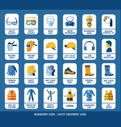 collection of safety equipment set of safety and vector image