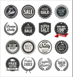 collection retro vintage badges and labels 3 vector image
