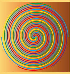 color spiral on a beige background abstraction 1 vector image