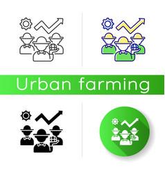 Cultural development icon vector
