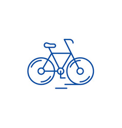 cute bicycle line icon concept cute bicycle flat vector image