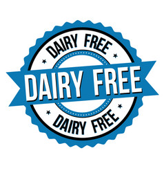 dairy free label or sticker vector image