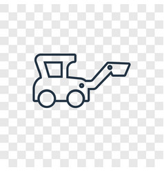 digger toy concept linear icon isolated on vector image
