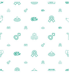 Element icons pattern seamless white background vector