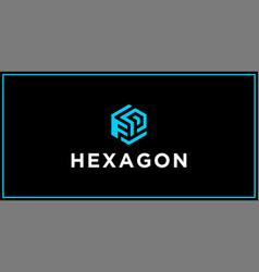 Fp hexagon logo design inspiration vector