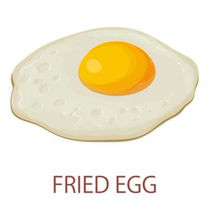 Fried egg icon isometric style vector