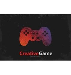 Game logo design joystick logo game pad design vector