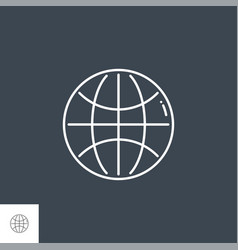globe related line icon vector image