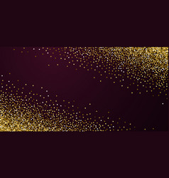 Gold glitter luxury sparkling confetti scattered vector