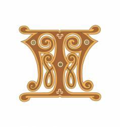 golden letter t vector image