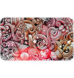 holidays hand drawn doodle banner cartoon vector image
