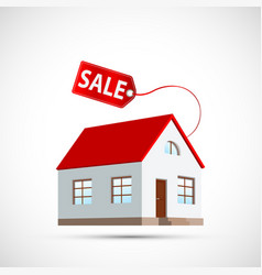 House icon with a price tag property for sale vector