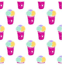 Ice-cream pattern colored-04 vector