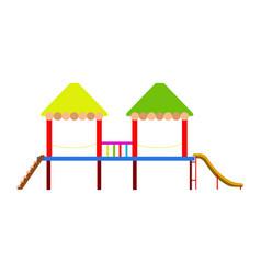 isolated playground equipment icon vector image