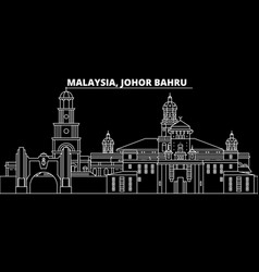 Johor bahru silhouette skyline malaysia - johor vector