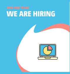 join our team busienss company pie chart on vector image