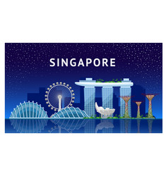 journey to singapore vector image