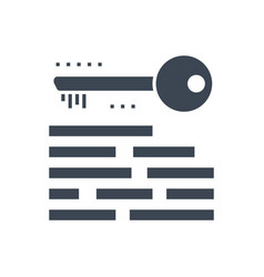keywording glyph icon vector image
