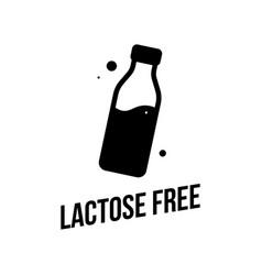 Lactose free icon vector