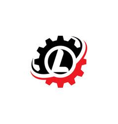 Letter l gear logo design template vector