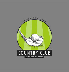 Logo for the golf club vector