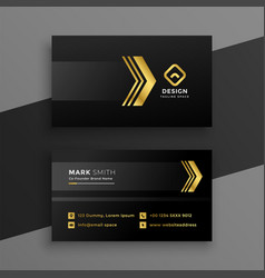 Luxury dark business card design vector