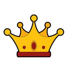 luxury king crown vector image