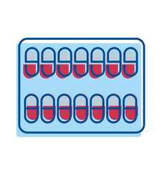 Medical pharmaceutical capsules treatment icon vector