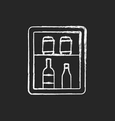 Mini bar chalk white icon on black background vector