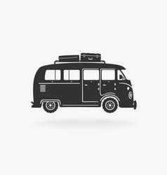 Mini bus for travel symbol vector