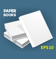mock-ups of paper books-02 vector image