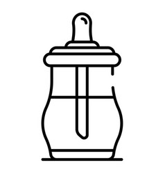 modern sippy cup icon outline style vector image