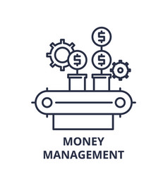 money management line icon concept money vector image